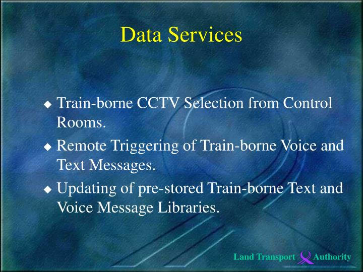 Train-borne CCTV Selection from Control Rooms.