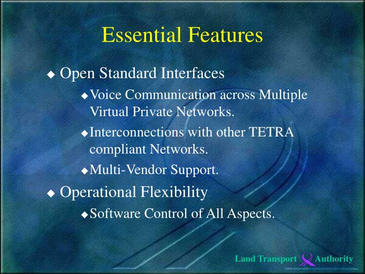 Open Standard Interfaces