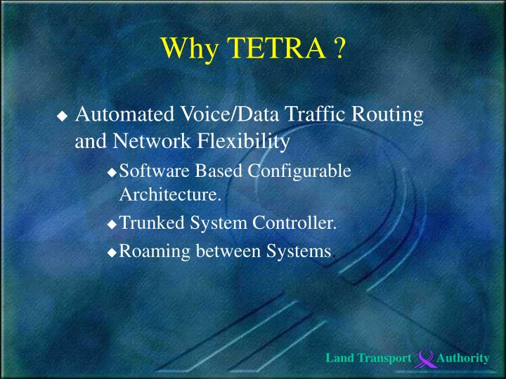 Automated Voice/Data Traffic Routing and Network Flexibility