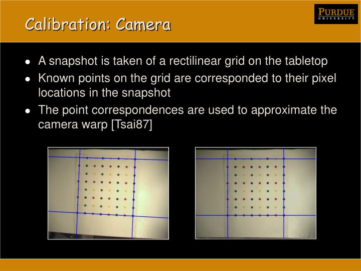 Calibration: Camera