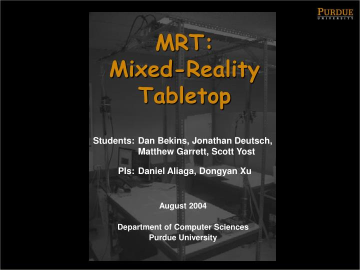 Mrt mixed reality tabletop