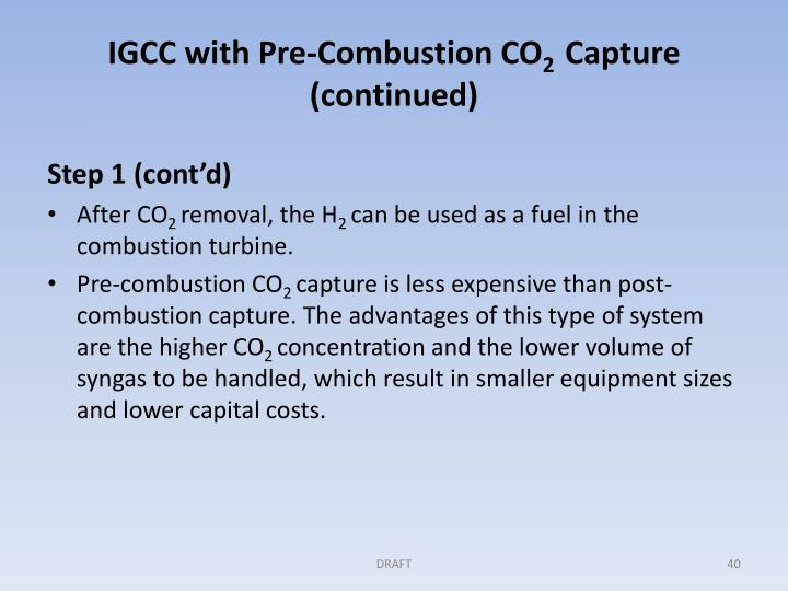 IGCC with Pre-Combustion CO