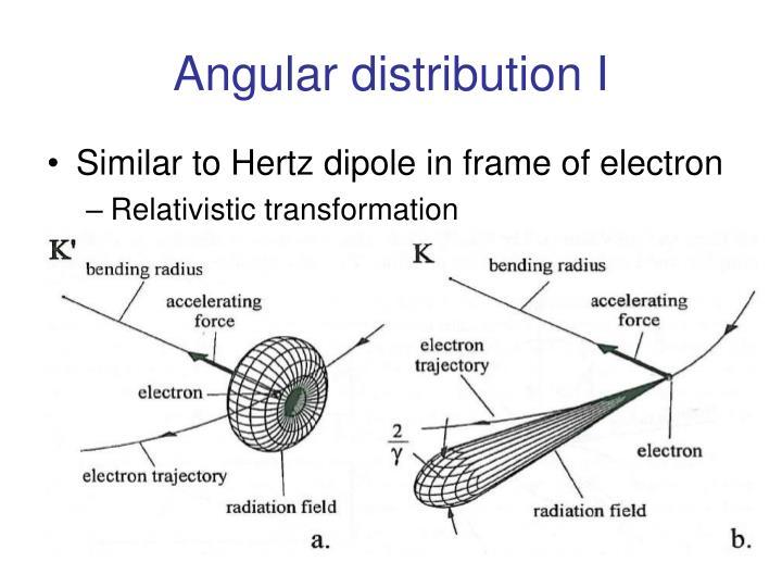 Angular distribution I