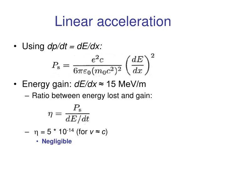 Linear acceleration