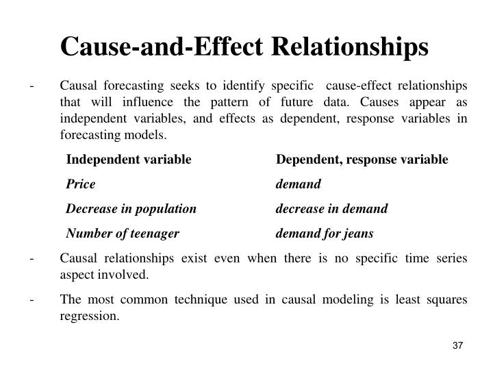 Cause-and-Effect Relationships