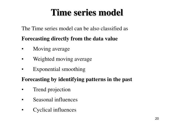 Time series model