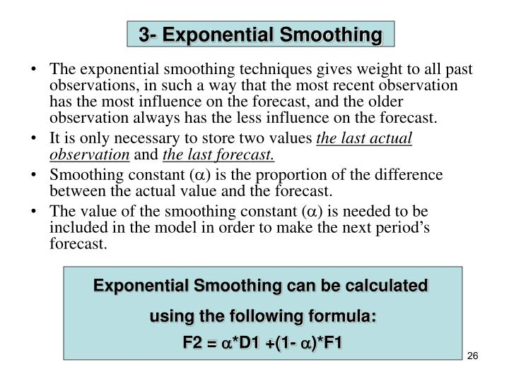 3- Exponential Smoothing