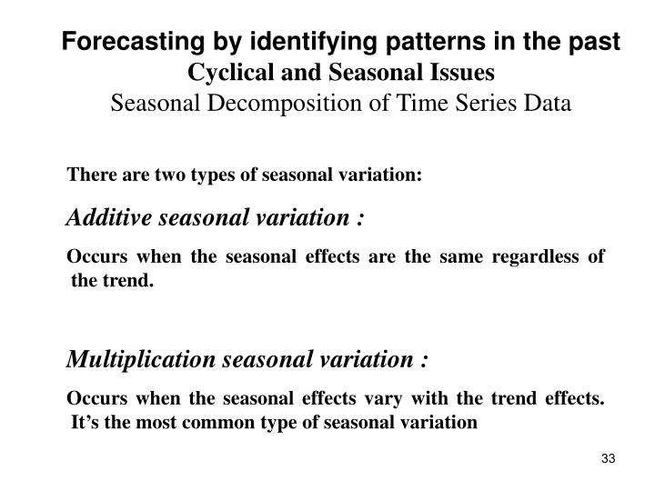 Forecasting by identifying patterns in the past
