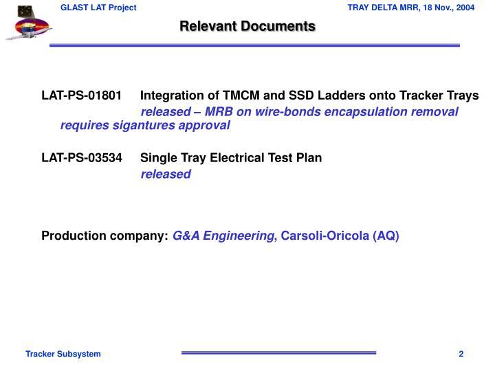 Relevant Documents
