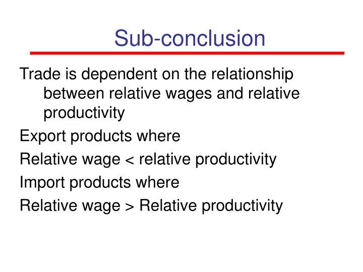 Sub-conclusion