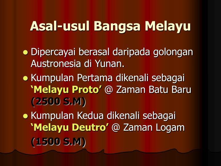 Asal-usul Bangsa Melayu