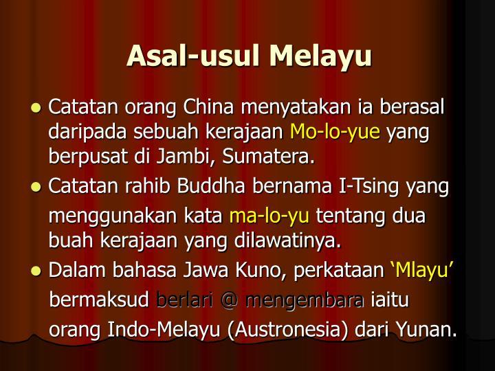 Asal-usul Melayu