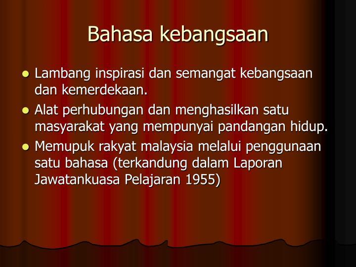 Bahasa kebangsaan