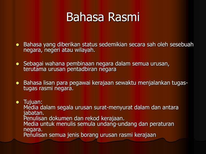 Bahasa Rasmi