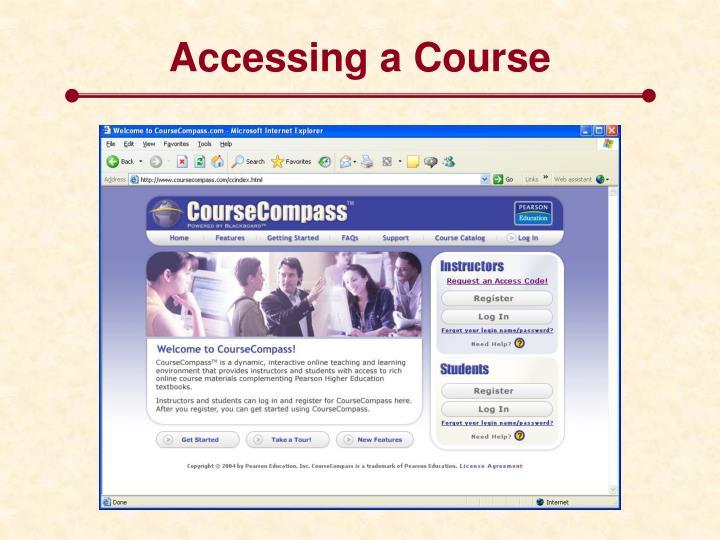 Accessing a Course