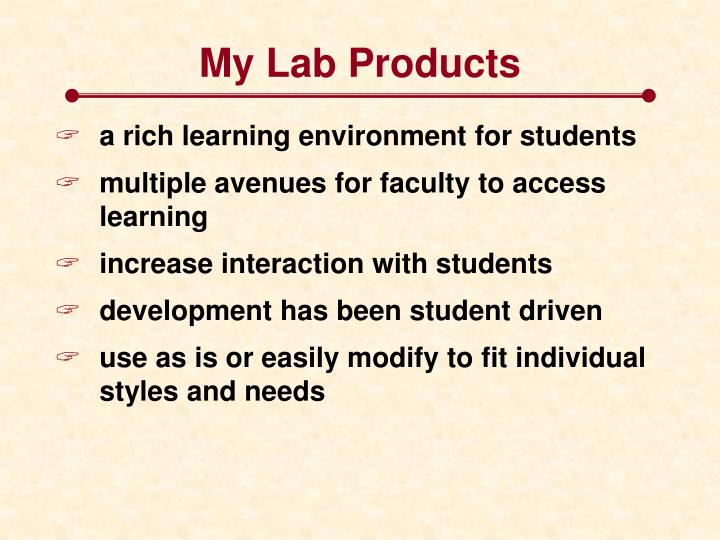 My Lab Products