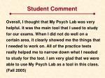 student comment1