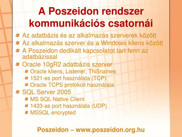 A Poszeidon rendszer