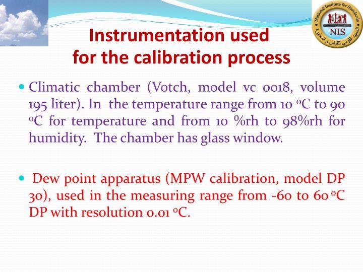 Instrumentation used