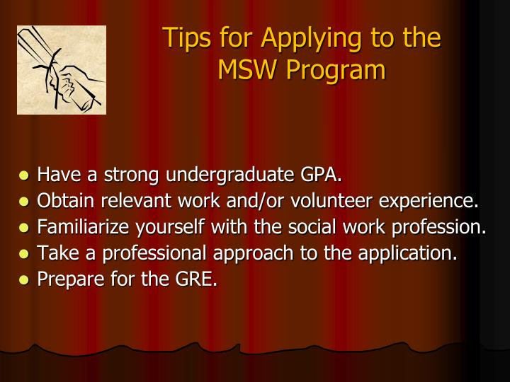Tips for Applying to the