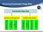 ensuring sustainable wage bills