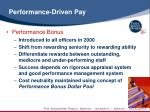 performance driven pay