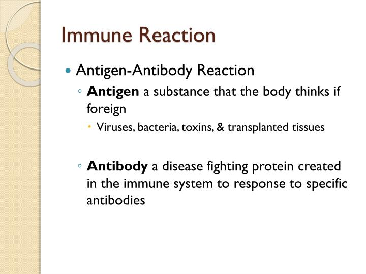 Immune Reaction