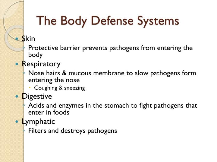 The Body Defense Systems