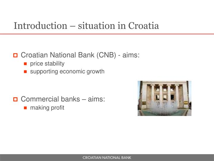 Introduction – situation in Croatia