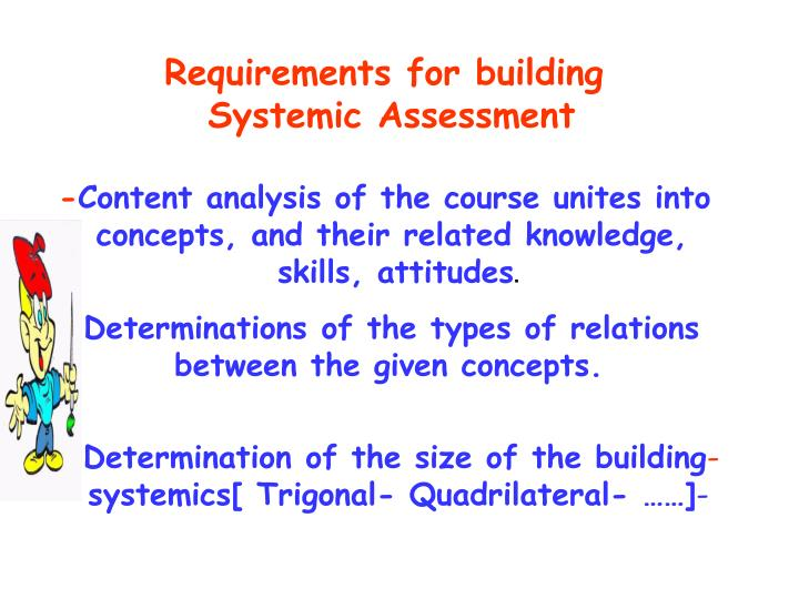 Requirements for building