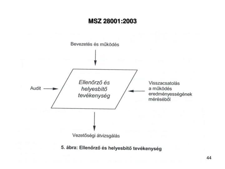 MSZ 28001:2003