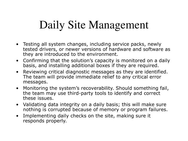 Daily Site Management