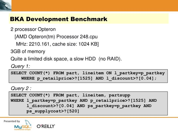BKA Development Benchmark