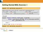 getting started bka exercise 4