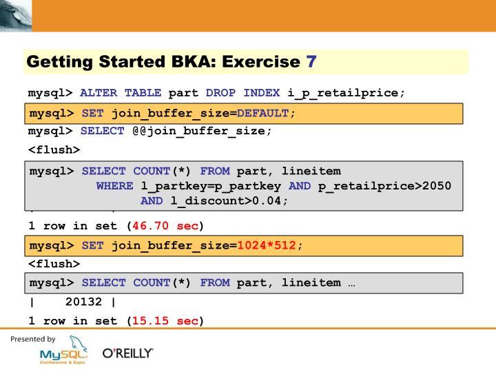 Getting Started BKA: