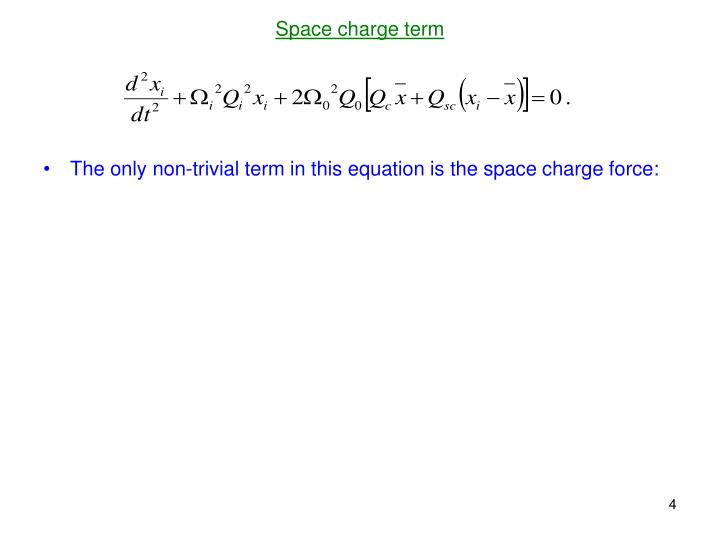 Space charge term