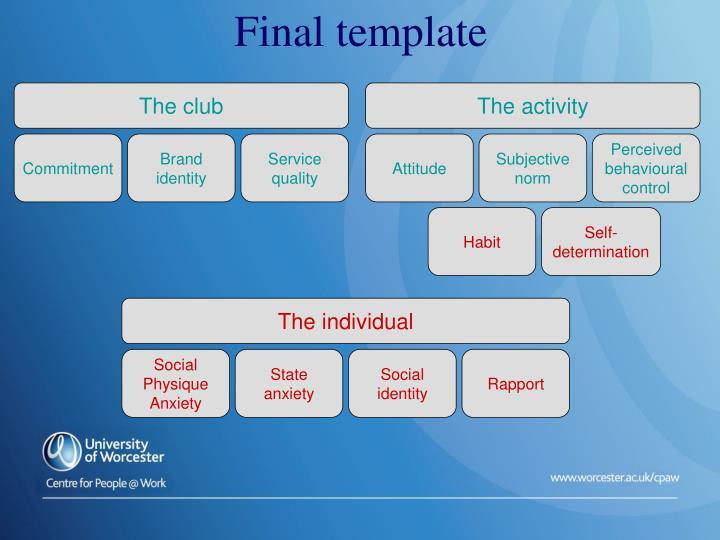 Final template