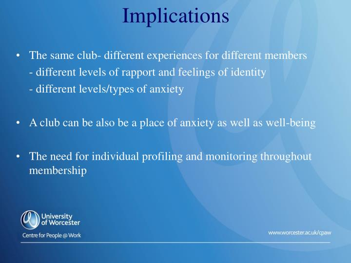The same club- different experiences for different members