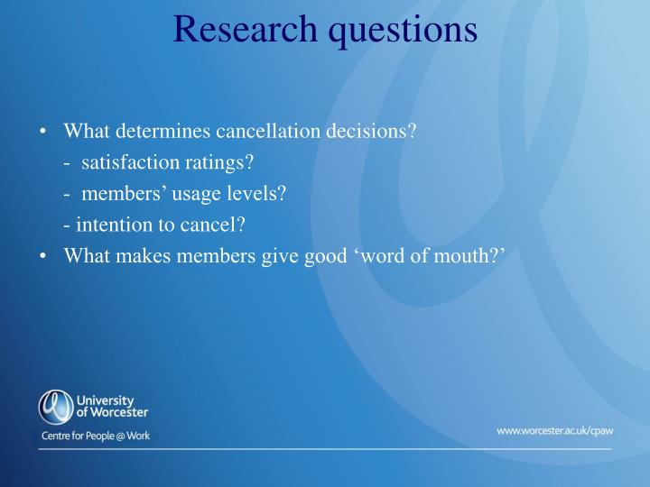 What determines cancellation decisions?