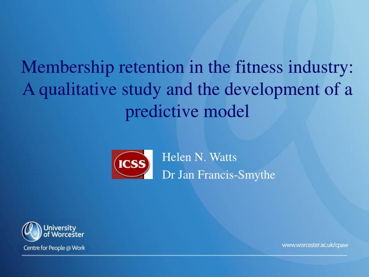Membership retention in the fitness industry: