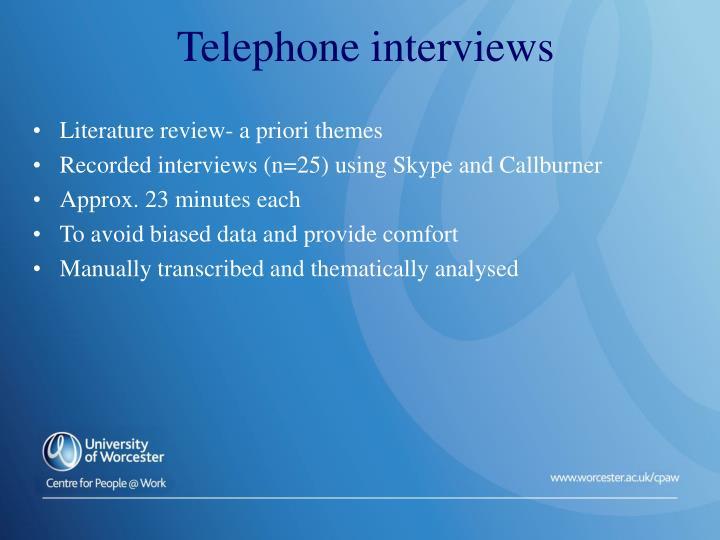 Literature review- a priori themes