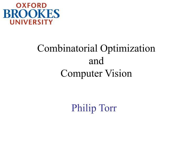 combinatorial optimization and computer vision