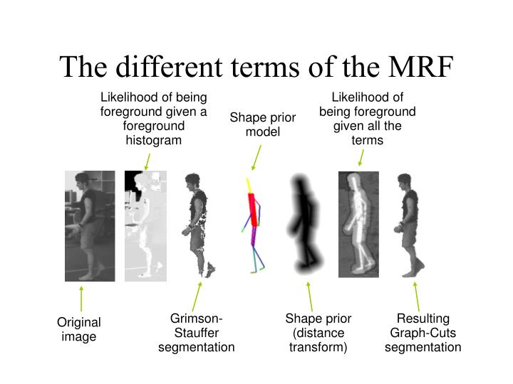 The different terms of the MRF