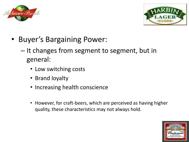 Buyer's Bargaining Power: