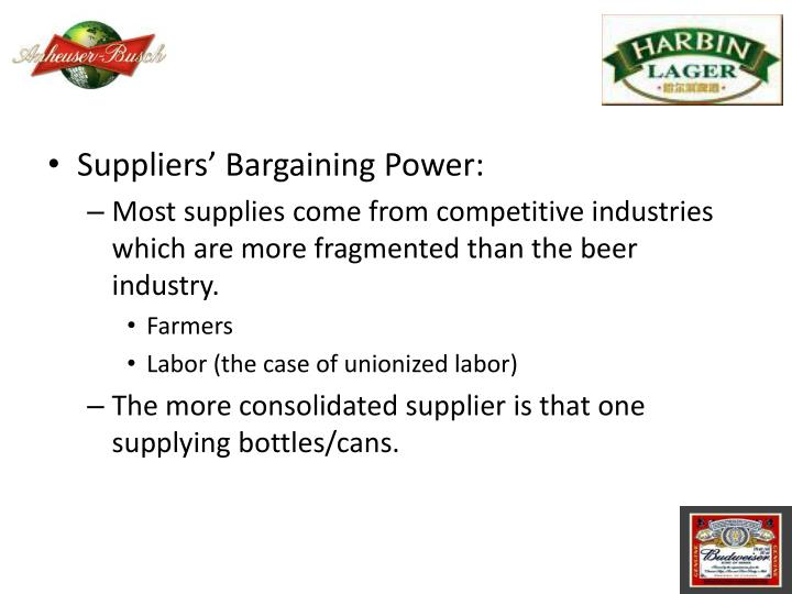 Suppliers' Bargaining Power: