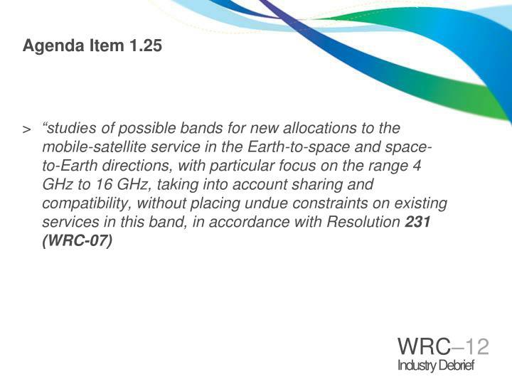 Agenda Item 1.25