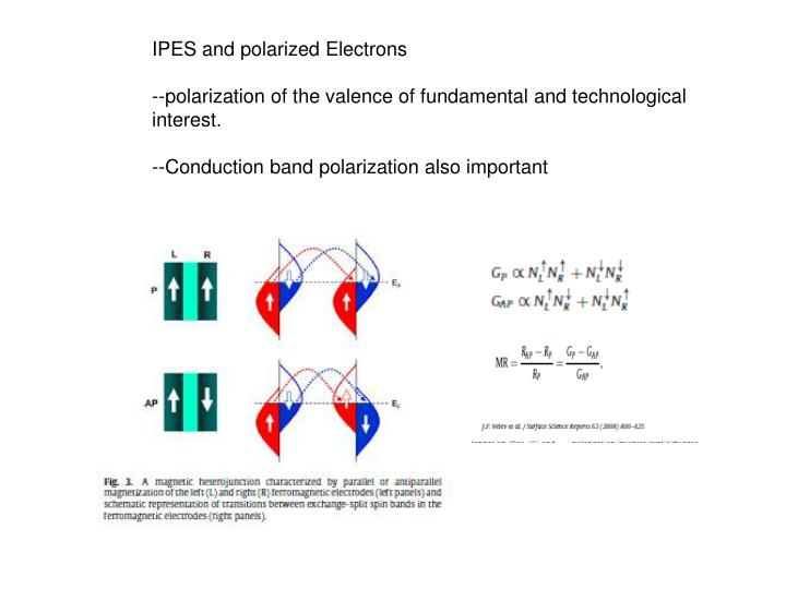 IPES and polarized Electrons