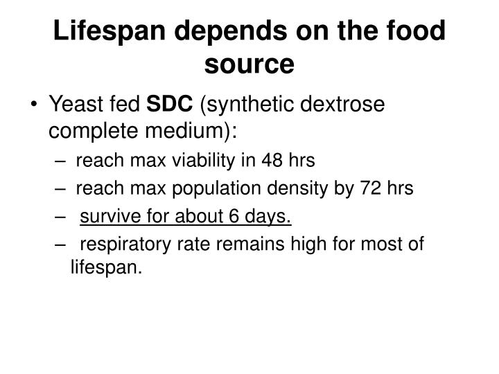 Lifespan depends on the food source