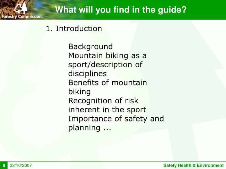 What will you find in the guide?