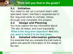 what will you find in the guide3